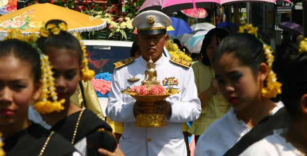Buddhista felvonulás Chiang Mai, Thailand