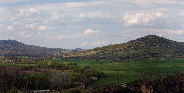Panorama photo of the Zemplén Hills from Mandulás Hill - PWSDesign