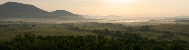 Panorama photo - Sunrise over Sátoraljaújhely - PWSDesign