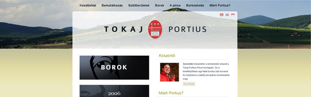 Tokaj-Portius Pincészet, Sárospatak - PWSDesign