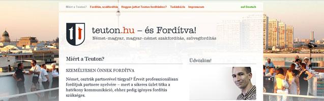 Webdesig a teuton.hu részére - PWSDesign