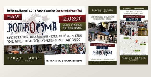 Poster, flyers, newspaper ad for Karádi-Berger  - PWSDesign