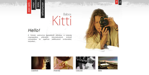 Website of Kitti Babos - Feki webstudio & PWSDesign