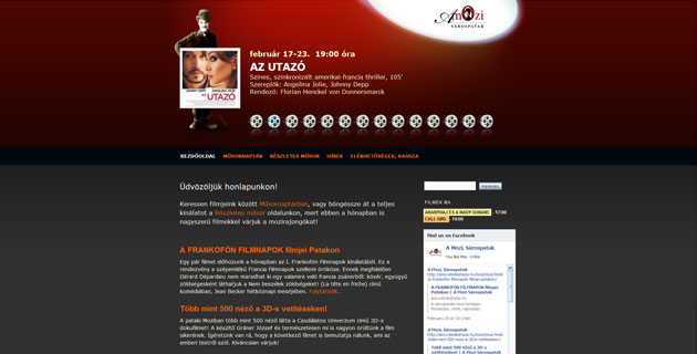 Sárospatak cinema - WordPress site