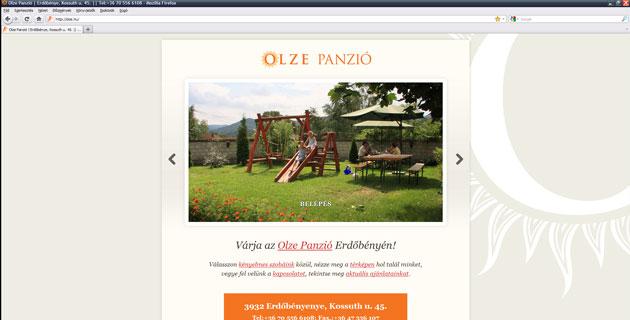 Olze Panzió PWSDesign portfolio