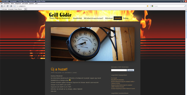 New WordPress theme for GrillGödör