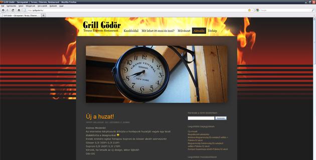 Új GrillGödör WordPress sablon