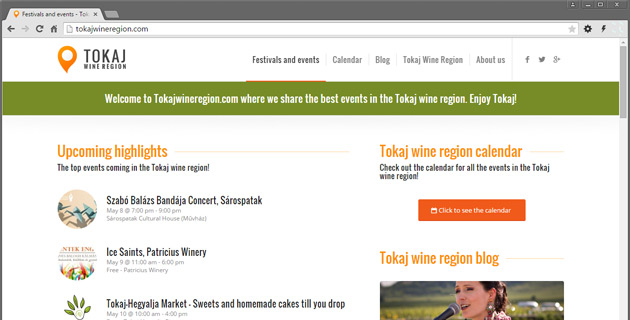 Tokaj Wine Region - where we share the best events in the Tokaj wine region. Enjoy Tokaj!